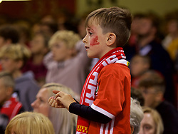 CARDIFF, WALES - Thursday, October 11, 2018: A young Wales supporter with his face painted during the International Friendly match between Wales and Spain at the Principality Stadium. (Pic by Lewis Mitchell/Propaganda)