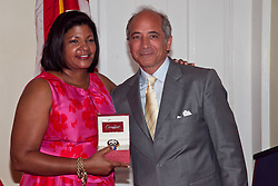 First Lady Cecile R. de Jongh and Mr. Louis de Lyrot, President of Cardow Jewelers