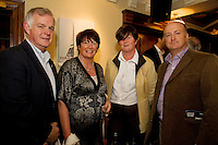"19/7/2011. Ray Flaherty, Knocknacarra, Eileen Fitzgerald, Knocknacarra, Margaret Keville and Andrew Keaveney, Salthill in McSwiggans for the pre show reception of Propellors ""Comedy of Errors"" by Shakspeare in the Galway Arts Festival, sponsored by Ulster Bank. Photo:Andrew Downes"