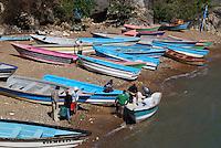 Fishing boats in Boca de Yuma on the east coast of The Dominican Republic.