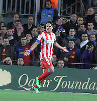 16.12.2012. Barcelona, Spain. La Liga day 16. Picture show Falcao after scoring during game FC Bracelona against Atletico Madrid at Camp Nou