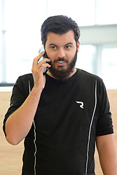 ZAGREB, Sept. 15, 2017  Mate Rimac, founder and CEO of Rimac Automobili, talks on the phone at his company in Sveta Nedelja, a township near Croatian capital Zagreb, on Sept. 11, 2017. Founded in 2009 by tech-geek Mate Rimac, Rimac Automobili has become increasingly famous as the manufacturer of the Concept One electric hypercars and provider of relevant technologies.  zf) (Credit Image: © Gao Lei/Xinhua via ZUMA Wire)