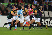 South Africa just seemed stronger than Argentina after they failed to score in the first half during the Rugby World Cup Bronze Final match between South Africa and Argentina at the Queen Elizabeth II Olympic Park, London, United Kingdom on 30 October 2015. Photo by Matthew Redman.