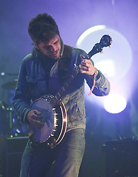 Country Winston Marshall of Mumford & Sons, headline the main stage on Friday night..Rockness 2012..©Michael Schofield..