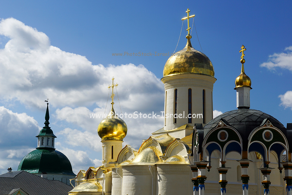 The Cathedral at Novospassky Monastery (New monastery of the Saviour), Moscow, Russia
