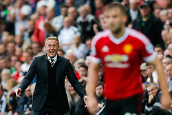 Swansea City Manager Garry Monk celebrates after his side win the match 2-1 - Mandatory byline: Rogan Thomson/JMP - 07966 386802 - 30/08/2015 - FOOTBALL - Liberty Stadium - Swansea, Wales - Swansea City v Manchester United - Barclays Premier League.