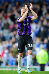 Mark McChrystal (NIR) of Bristol Rovers looks dejected as he applauds the travelling supporters after a 3-2 loss - Photo mandatory by-line: Rogan Thomson/JMP - 07966 386802 - 19/04/2014 - SPORT - FOOTBALL - Fratton Park, Portsmouth - Portsmouth FC v Bristol Rovers - Sky Bet Football League 2.
