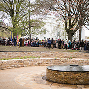 Dedication ceremony for Mantle: Virginia Indian Tribute, a monument designed on Virginia State Capitol Square, in Richmond, Virginia, on Tuesday, April 17, 2018. John Boal Photography