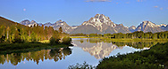 """Full Moon at Oxbow Bend in Grand Teton National Park<br /> <br /> For production prints or stock photos click the Purchase Print/License Photo Button in upper Right; for Fine Art """"Custom Prints"""" contact Daryl - 208-709-3250 or dh@greater-yellowstone.com"""