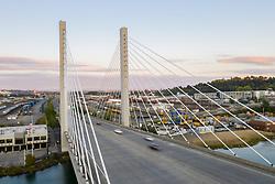 United States, Washington,Tacoma (aerial view)