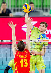 Danijel Koncilja of Slovenia during volleyball match between National teams of Slovenia and F.Y.R. Macedonia in Qualifications for 2015 CEV Volleyball European Championship - Men on May 24, 2014 in Arena Stozice, Ljubljana, Slovenia. Photo by Vid Ponikvar / Sportida