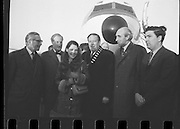 Dana Arrives after Eurovision Success.23/03/1970 greetings at dublin airport, john hume,