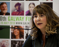 Dr Susan Liddy at the 'Accelerating Gender Equality: Time for Quotas? What do you think?' Panel Discussion at the Galway Film Fleadh, Galway Rowing Club, Galway, Ireland. Saturday 14th July 2018