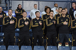 September 7, 2018 - Glasgow, Ecosse - GLASGOW, SCOTLAND - SEPTEMBER 7 : Matz Sels goalkeeper of Belgium, Thomas Vermaelen defender of Belgium, Toby Alderweireld defender of Belgium, Axel Witsel midfielder of Belgium, Leander Dendoncker midfielder of Belgium, Thomas Meunier defender of Belgium, Koen Casteels  goalkeeper of Belgium pictured during the friendly match against Scotland on September 07, 2018 in Glasgow, Scotland, 7/09/2018 (Credit Image: © Panoramic via ZUMA Press)