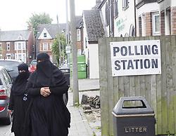 June 8, 2017 - Luton, Luton, United Kingdom - Image ©Licensed to i-Images Picture Agency. 08/06/2017. Luton, United Kingdom. Muslims at a Luton Polling Station. Luton Thursday June 8, 2017. Picture by Max Nash / i-Images (Credit Image: © Max Nash/i-Images via ZUMA Press)