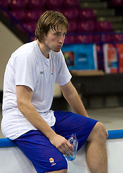 Matjaz Smodis  at practice of Slovenian National Basketball team in Arena Torwar two days before the beginning of the Eurobasket 2009, on September 05, 2009 in Warsaw, Poland. (Photo by Vid Ponikvar / Sportida)