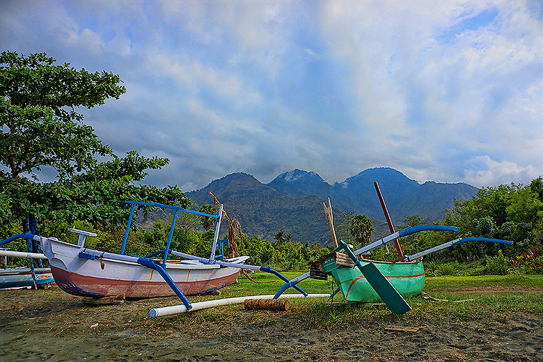 Fishing boats in Pemuteran, Bali