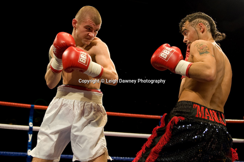 Michael Mcguire defeats Pavels Senkovs at Brentwood Centre 22nd January 2010, Frank Maloney Promotions,Credit: © Leigh Dawney Photography