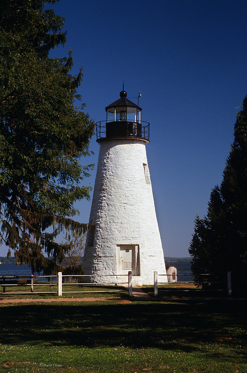Havre De Grace, Maryland --The Concord Point lighthouse overlooks the point where the Susquehanna River flows into the Chesapeake Bay. It is the most northerly lighthouse in Maryland and the oldest continuously operated lighthouse in Maryland.