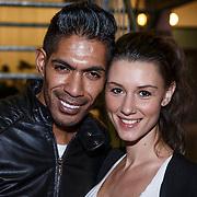 NLD/Amsterdam/20131113 - VIP avond bij Isabel Marant pour H&M, stylist Giovanni Laisina en Danielle Frederiks -  van Aalderen