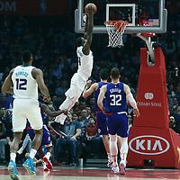 31 December 2017: Charlotte Hornets forward Michael Kidd-Gilchrist (14) dunks the ball during the LA Clippers 106-98 victory over the Charlotte Hornets, at the Staples Center, Los Angeles, California, USA.