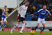 Crewe Alexandra forward Marcus Haber on the ball during the Sky Bet League 1 match between Chesterfield and Crewe Alexandra at the Proact stadium, Chesterfield, England on 20 February 2016. Photo by Aaron Lupton.