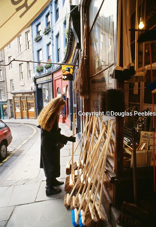 Woman in Edinburg, Scotland, UK.