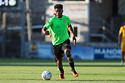 Forest Green Rovers Reuben Reid(26) drives forward during the Pre-Season Friendly match between Torquay United and Forest Green Rovers at Plainmoor, Torquay, England on 10 July 2018. Picture by Shane Healey.