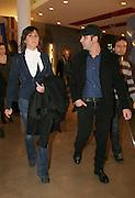 Foto di Donato Fasano Photoagency, nella foto : Checcozalone Luca Medici alla presentazione del film a Bari il 27 11 2009 titolo film cado dalle nubi con la fidanzata Mariangela