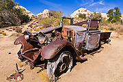 Old truck at the Wall Street Stamp Mill, Joshua Tree National Park, California