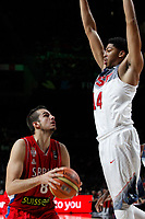 United States´s Davis (R) and Serbia´s Bjelica during FIBA Basketball World Cup Spain 2014 final match between United States and Serbia at `Palacio de los deportes´ stadium in Madrid, Spain. September 14, 2014. (ALTERPHOTOSVictor Blanco)