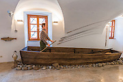 Fishing display in the Natural History Museum, Brod, Croatia