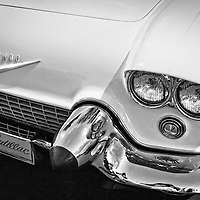 A Black and White Night of Vintage Cars on the Santa Fe Plaza