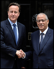 SEP 17 2013 David Cameron meets the Libyan Prime Minister