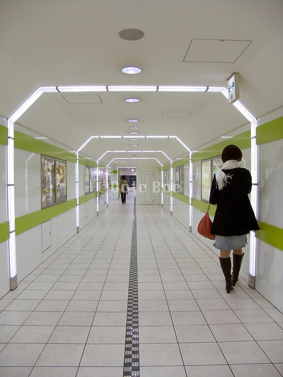 underground tunnel in Tokyo?s subway system