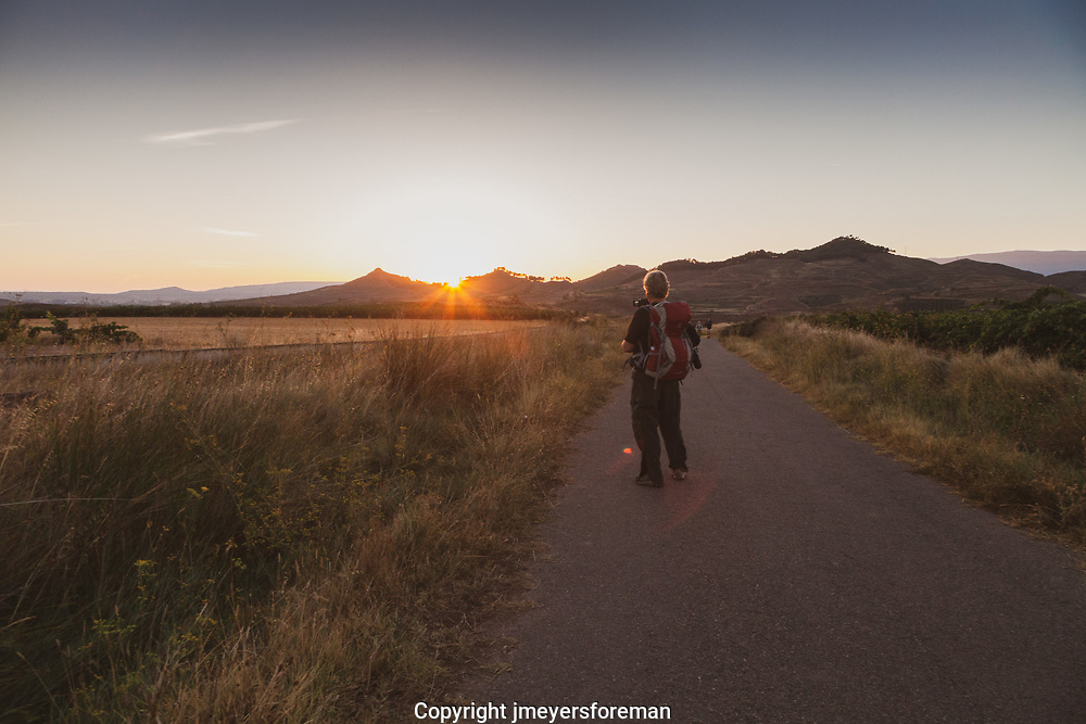 Mornings start early for most people when walking the Camino Frances. Sunrise is a beautiful part of the day. I strongly recommend to anyone and everyone, if you get the chance take a minute to enjoy and be grateful that you were able to witness another beautiful day walking the Camino to Santiago de Compostela