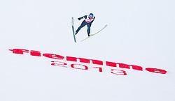 02.03.2013, Skisprungstadion, Predazzo, ITA, FIS Weltmeisterschaften Ski Nordisch, Nordische Kombination, Skisprung Großschanze Team, Wertungsdurchgang, im Bild Bernhard Gruber (AUT) // Bernhard Gruber of Austria during the Mens Nordic Combined Team Large Hill Skijump Competition of the FIS Nordic Ski World Championships 2013 at the Skijumping Stadium, Predazzo, Italy on 2013/03/02. EXPA Pictures © 2013, PhotoCredit: EXPA/ Juergen Feichter