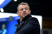 Birmingham City first team manager Gary Rowett during the Sky Bet Championship match between Birmingham City and Fulham at St Andrews, Birmingham, England on 19 March 2016. Photo by Alan Franklin.