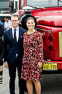 20-10-2015 LIMA  Prince Daniel and Princess victoria  visit to Volvo, Volvo's main office in the southern suburbs of Lima.  Prince Daniel and Princess victoria during a 2 day visit to peru and 3 days visit to Colombia . COPYRIGHT ROBIN UTRECHT