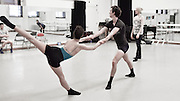"Daniel Mantel (choreographer) rehearses the dancers from the Columbia Ballet Collaborative in Barnard College's Studio 1, for the Spring 2016 performance of ""Solidarity"" to be held at the Miller Theatre Columbia University School of the Arts."