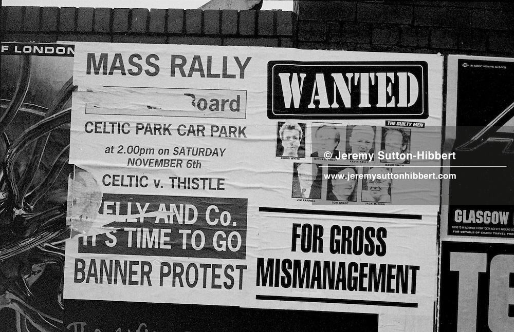 The buy-out of Celtic FC by Fergus McCann and Brian Dempsey, in Glasgow, Scotland, in 1993.