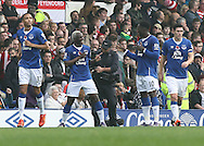 Arouna Kone of Everton celebrates with Romelu Lukaku after scoring the second goal against Sunderland during the Barclays Premier League match at Goodison Park, Liverpool.<br /> Picture by Michael Sedgwick/Focus Images Ltd +44 7900 363072<br /> 01/11/2015