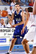 Antibes 21/06/1999<br /> Campionati Europei di Basket Francia 1999<br /> Italia-Croazia<br /> Andrea Meneghin