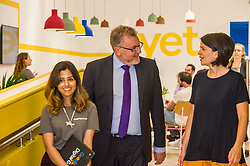 Pictured: David Mundell was shown around by Google team leader, Anikita Narayan and Head of Skills Policy Alina Dimofte<br /> Scottish Secretary David Mundell visited a 'digital garage' in Edinburgh which trains people in digital skills. The Google Digital Garage, in Shandwick Place is a social responsibility outlet for the corporate giant<br /> <br /> <br /> Ger Harley | EEm 23 July 2018