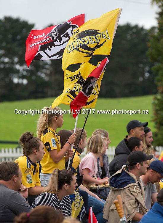 Hurricanes v Crusaders, Super rugby preseason match, Farmlands Grass Roots Rugby, Border Rugby Club, Waverley, New Zealand. Friday,  17 February, 2017. Copyright photo: John Cowpland / www.photosport.nz
