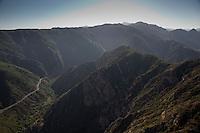 Views over the Santa Monica mountains in California.