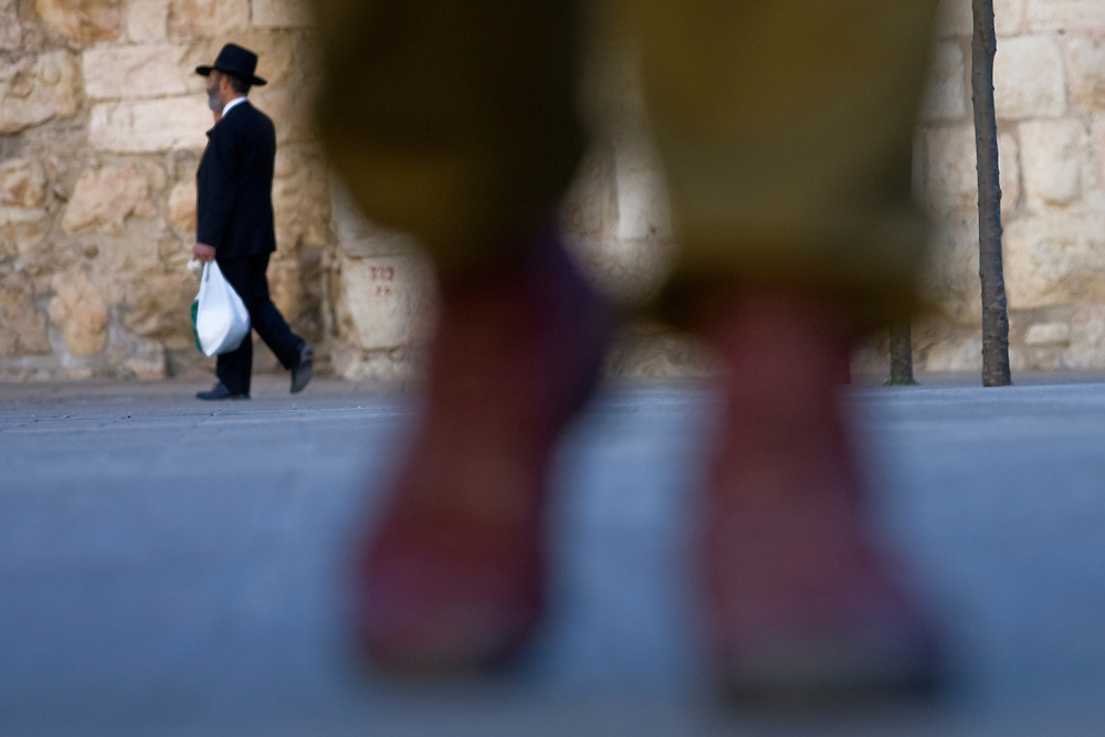 jerusalem old city soldier boots shoes ultra orthodox