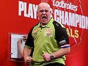 Michael Van Gerwen during the Final 2018 Players Championship Finals at Butlins Minehead, Minehead, United Kingdom on 25 November 2018.