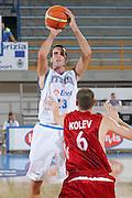 DESCRIZIONE : Gorizia Europeo Under 20 Italia Bulgaria <br /> GIOCATORE : Luigi Datome <br /> SQUADRA : Nazionale Italiana Maschile Under 20 <br /> EVENTO : Campionato Europeo Under 20 <br /> GARA : Italia Bulgaria <br /> DATA : 06/07/2007 <br /> CATEGORIA : Tiro <br /> SPORT : Pallacanestro <br /> AUTORE : Agenzia Ciamillo-Castoria/S.Silvestri <br /> Galleria : Europeo Under 20 <br /> Fotonotizia : Goriza Campionato Europeo Under 20 Italia Bulgaria <br /> Predefinita :
