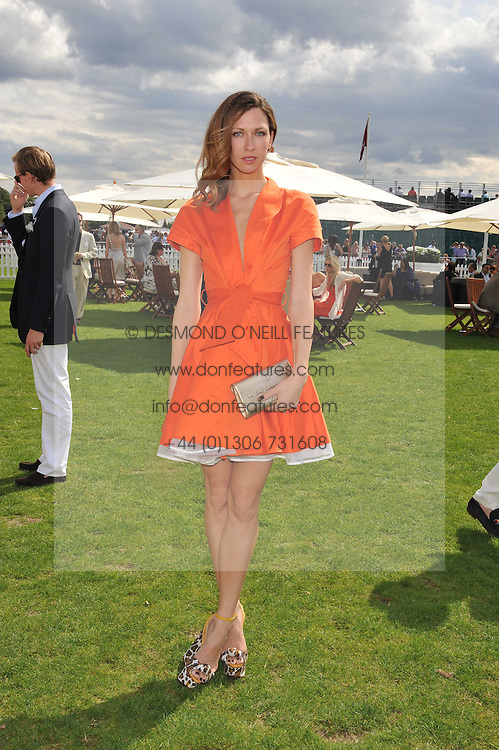MARGO STILEY at the 27th annual Cartier International Polo Day featuring the 100th Coronation Cup between England and Brazil held at Guards Polo Club, Windsor Great Park, Berkshire on 24th July 2011.